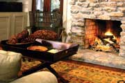 cozy fireplace and fall decor thumbnail