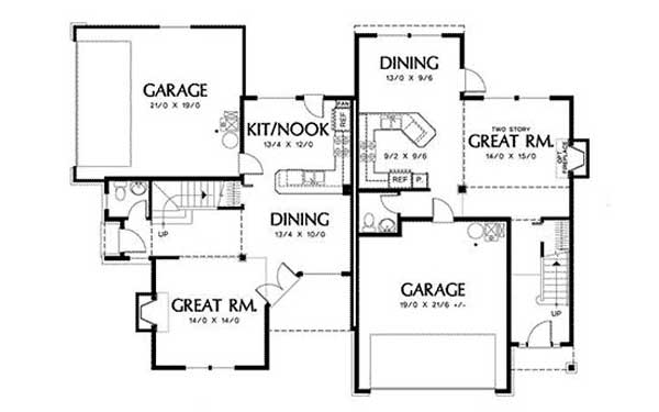 Duplex floor plans with garage thefloors co for Duplex plans with cost to build