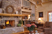 cozy stone fireplace thumbnail