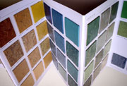 flooring samples and color swatches
