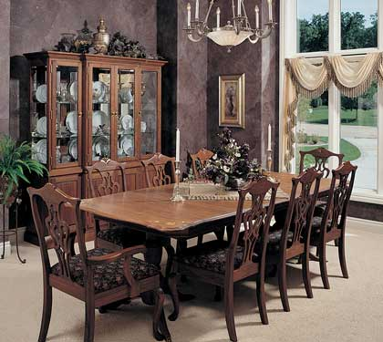 luxury dining room with hutch