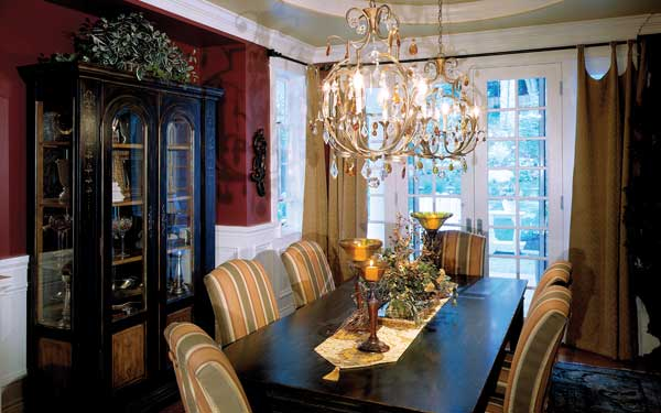 stunning dining room with hutch
