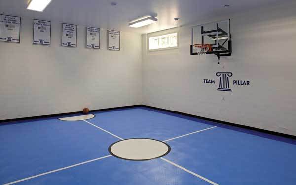 Backyard sport courts house plans and more for Indoor basketball court plans