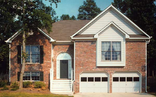 brick raised ranch home