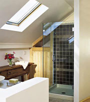 Brighter Bathroom With Skylights