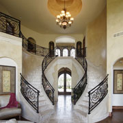 Luxury home double staircase