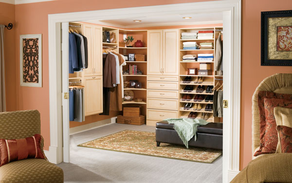 Stylish Dressing Room With Pocket Doors