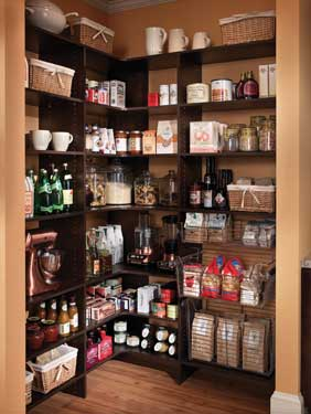 walk-in organized pantry