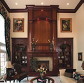 Grand wood fireplace