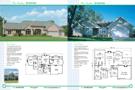 one story living home plans book - house plans and more