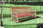 All wood bench with simple style great for backyard or front porch of home