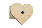 Wood heart-shaped bird house