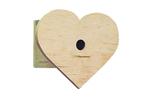 Wood heart-shaped bird house