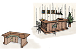 Rustic wet bar design perfect for a recreation room or lower level in your home
