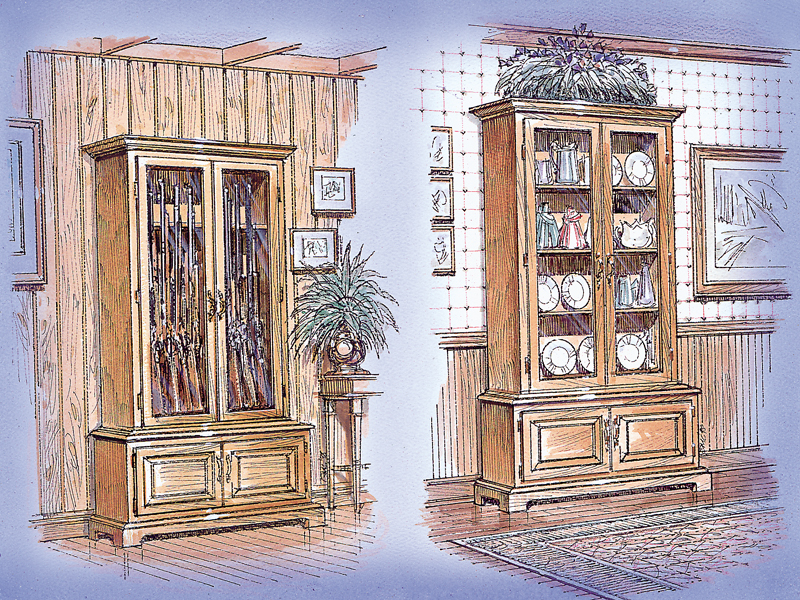 Luxury Plan Front of Home Gun/Curio Cabinet