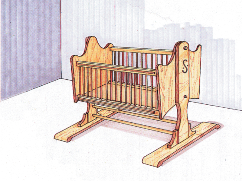 Building Plans Front of Home Rocking Cradle