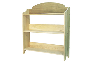 Building Plans Front of Home 3 Shelf Bookcase