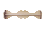 This Southwestern style towel bar is perfect for a bathroom in an Adobe or Southwestern style home plan