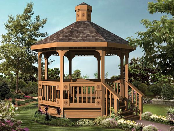 Home ideas for 8 sided gazebo plans