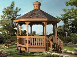 A Gazebo Is Similar To Pavilion And Often Octagon Shaped They Are Great Additions Park Areas Gardens Can Be Freestanding Or Attached