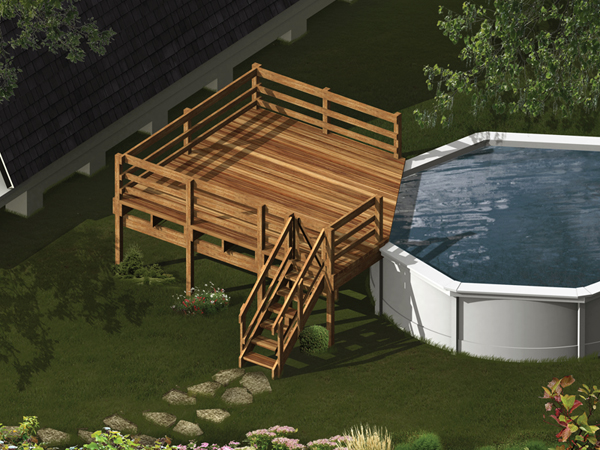 Building a wooden pool deck plans unique house plans for Pool deck design plans