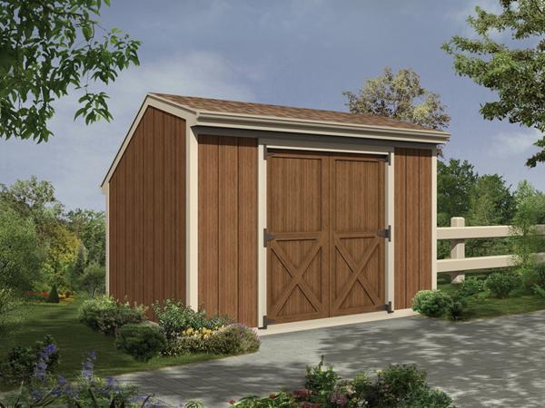 Monessen Salt Box Storage Sheds Plan 002d 4500 House
