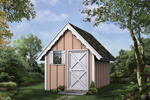 This charming playhouse/storage shed is a versatile structure that can adapt to your family's needs