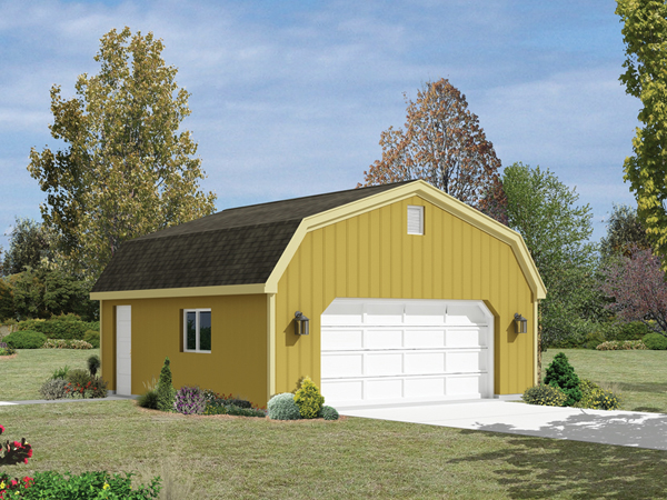 Garage plan gambrel roof house plans home designs Gambrel style barns