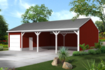 Pole building - equipment shed provides covered storage space and a garage type area for security