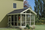 Screened porch design with cathedral ceiling above perfect addition for any house plan style