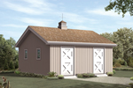 Two stall horse barn has simmple style to match any home design