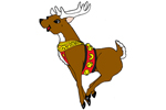 The flying deer with legs in coordinates well with the Santa flying sleigh