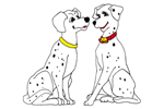 Mr. and Mrs. Spotted Dog is reminiscent of 101 Dalmatians