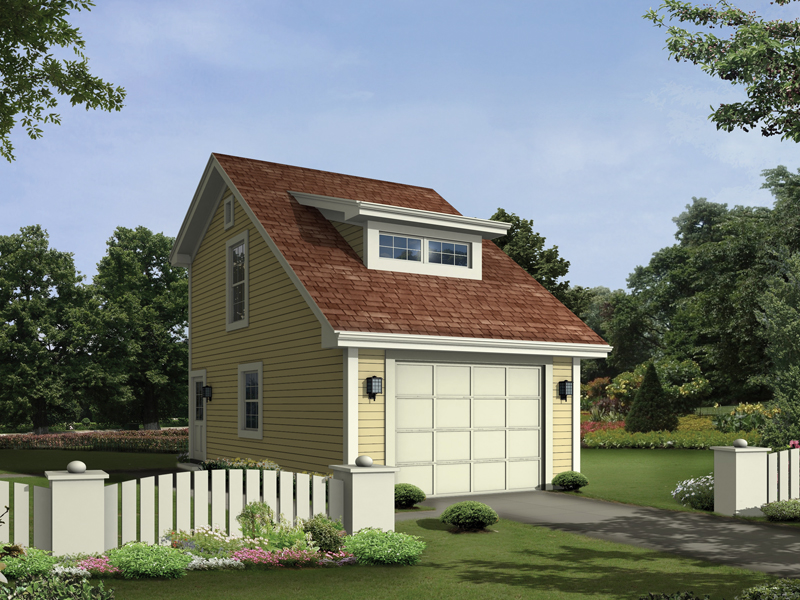 Elevation of Garage Plan 95925.