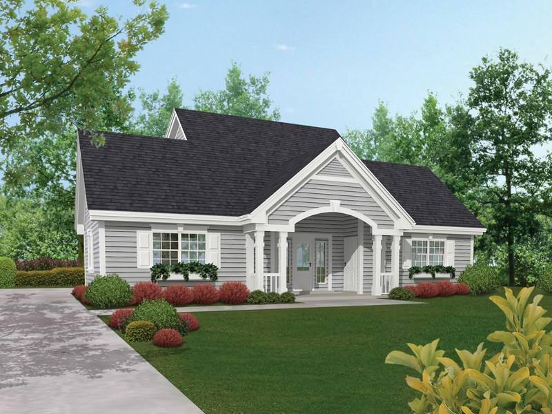 Vacation Home Plan Front of Home 009D-7508 | House Plans and More
