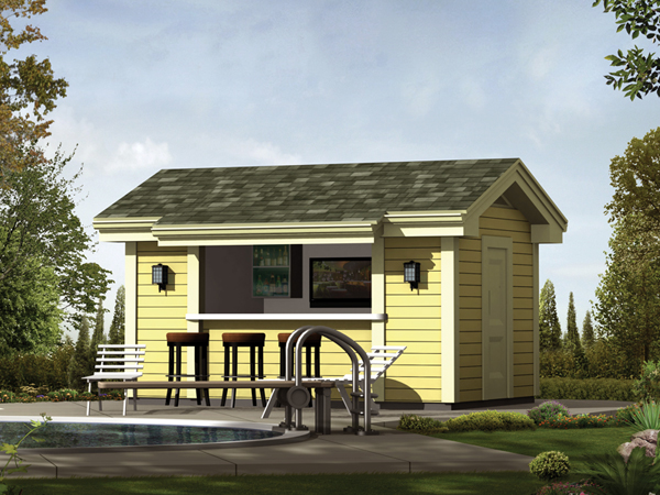 Coolwater pool cabana with bar plan 009d 7525 house for Cabana house plans