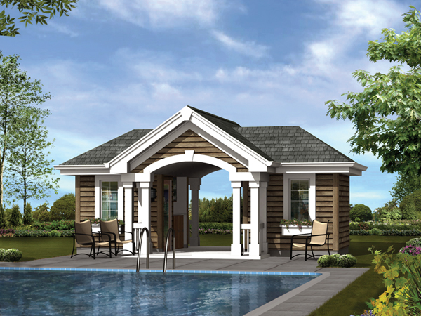 House plans with pool house plans home designs for Pool cabana plans