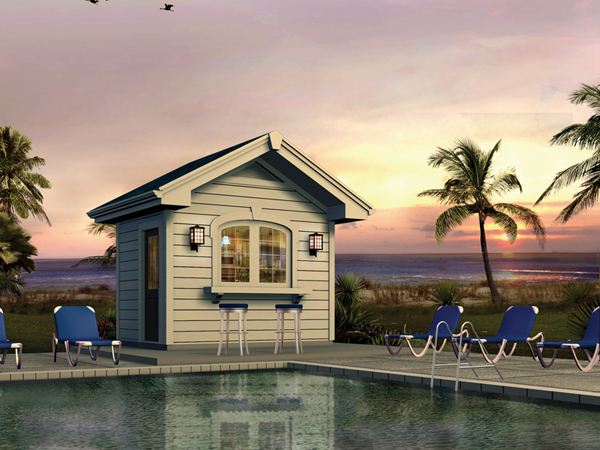 Cabana house plans over 5000 house plans for Pool cabana plans