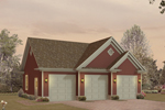 Handsome three-car garage has extra storage and multiple gables for curb appeal