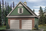 A comination of brick and siding plus a roof cupola dd charm and a country feel to this two-car garage