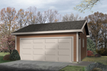 Compact two-car garage makes great use of space if built on a smaller lot
