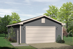 Attractive two-car garage is a great complement to any home plan
