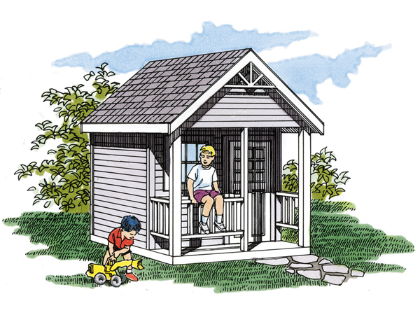 Playhouse floor plans floor plans for Free playhouse blueprints