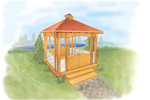 Lovely all wood garden gazebo
