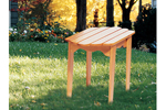 Rustic all wood adirondack table