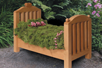 Charming all wood flower bed planter