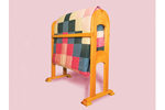 Sturdy all wood quilt rack is perfect for displaying a prized quilt collection