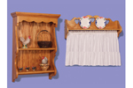 This window shelf and bath shelf add display space and function to any room