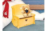 This all wood doll's seat and storage bench can be cherished for years to come