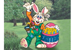 Bunny artist yard art pattern is a Easter bunny with large Easter egg